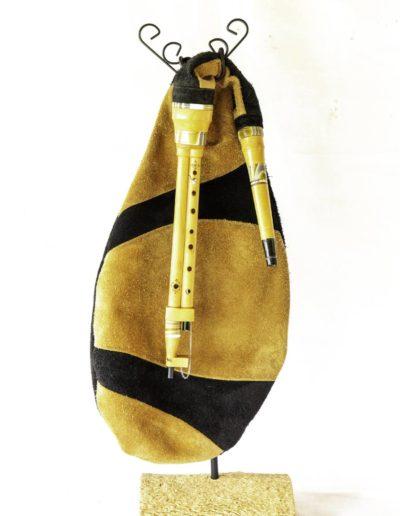 boha ou cornemuse de landes de Gascogne de l'atelier de facteur d'instrument a vent Neofactlandes